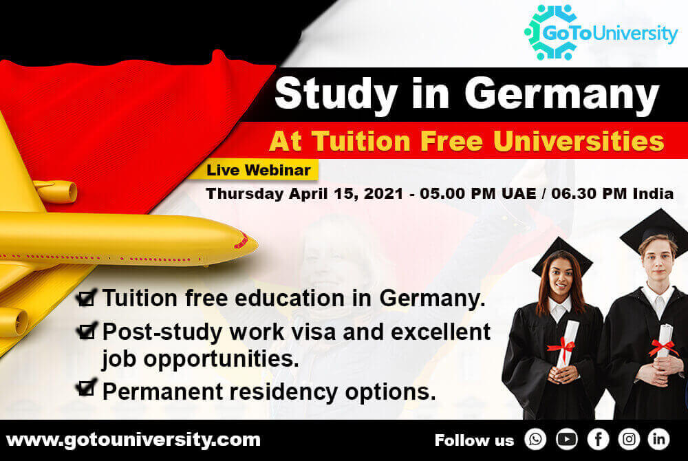 Study in Germany at Tuition Free Universities